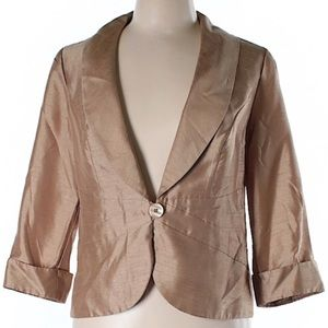 Dana Kay Gold sheen Blazer 10